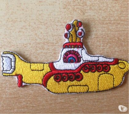 Photos Vivastreet écusson brodé beatles yellow submarine 8,5x4,5 cm