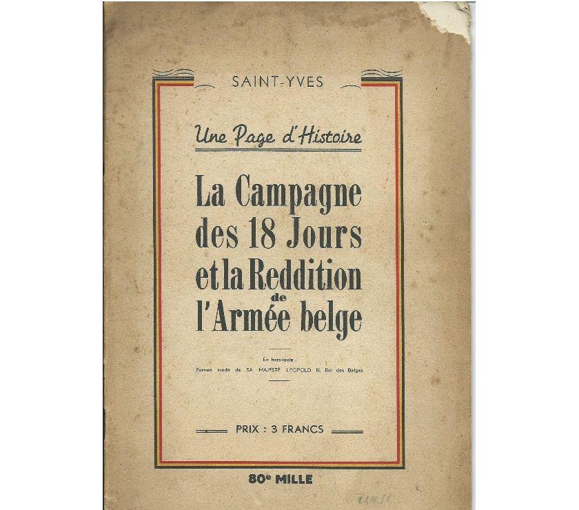 Collections Zaventem Zaventem - 1930 - Photos Vivastreet Campagne des 18 jours et reddition de l'Armée belge
