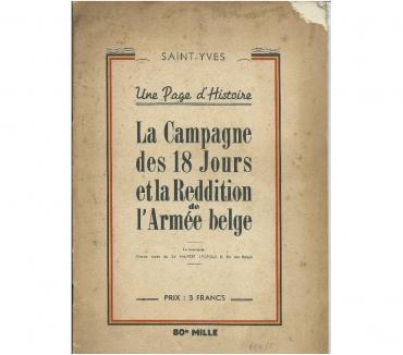 Photos Vivastreet Campagne des 18 jours et reddition de l'Armée belge