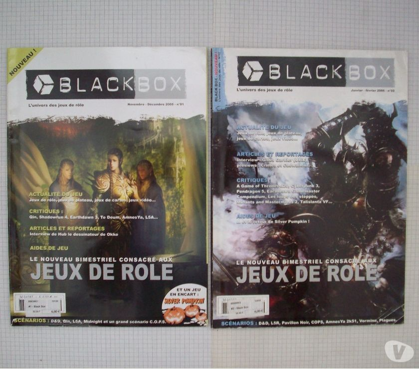 Photos Vivastreet Magazines de jdr Black Box