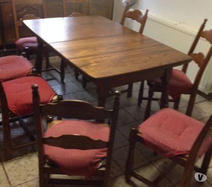 Photos Vivastreet table en chene masif pour cuisine avec 8 chaises 700€