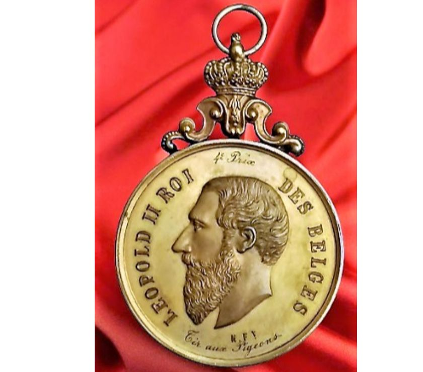 Collections Dilbeek Dilbeek - 1700 - Photos Vivastreet Bronze ~ Médaille avec couronne ✅ Léopold II Roi Des Belges