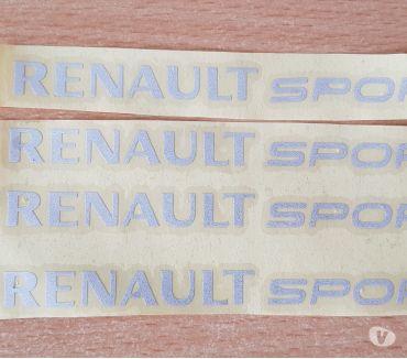 Photos Vivastreet 4 autocollants renault sport 12x1 cm gris réfléchissant