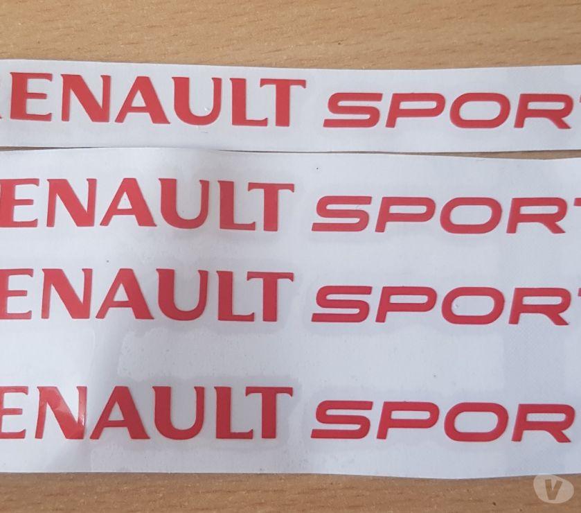 Photos Vivastreet 4 autocollants Renault sport 12x1 cm couleur rouge