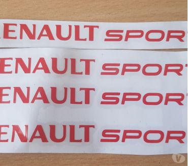 Photos Vivastreet 4 autocollants Renault sport 12x1 cm couleur rouge