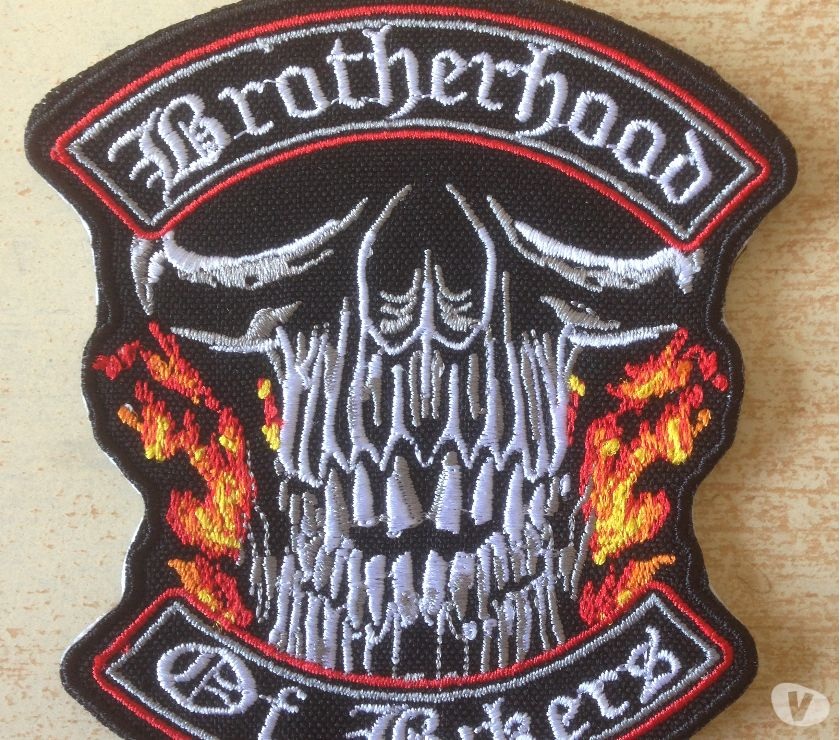 Photos Vivastreet Ecusson brodé biker skull brotherhood of bikers