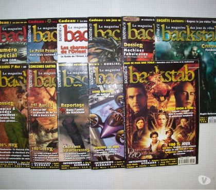 Photos Vivastreet Lot de magazines de jdr Backstab en français