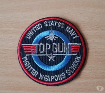 Photos Vivastreet écusson brodé top gun F-14 tomcat diam. 7,5 cm