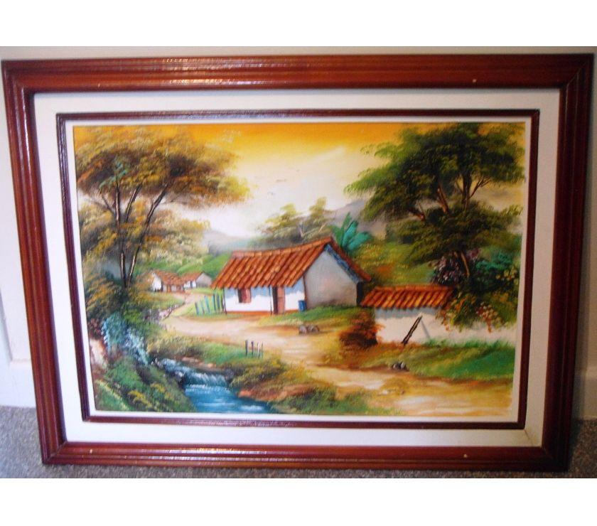 Photos Vivastreet Peinture sur toile avec reliefs, Colombie, 63 X 83 cm