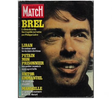 Photos Vivastreet Journal Paris-Match N°1534 20101978 JACQUES BREL.