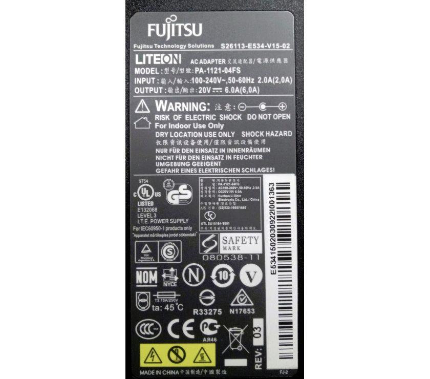 Photos Vivastreet Alim Fujitsu 120W PA-1121-04FS S26113-E534-V15-02 E534150203