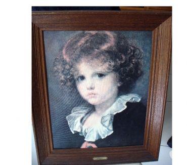 Photos Vivastreet Tableau (reprod.) J.-B. GREUZE : Petit garçon au gilet rouge