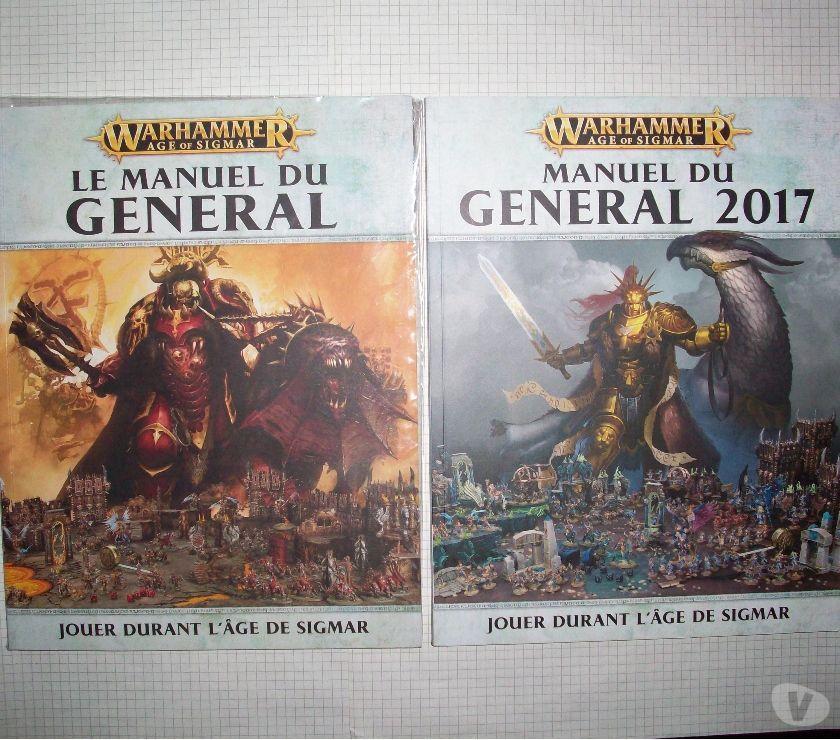 Collections Mouscron Mouscron - 7700 - Photos Vivastreet Lot de Manuel du général OOP pour Warhammer Age of Sigmar