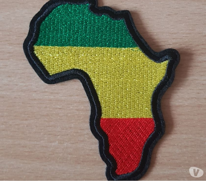Photos Vivastreet Ecusson brodé continent africain Afrique couleur rasta
