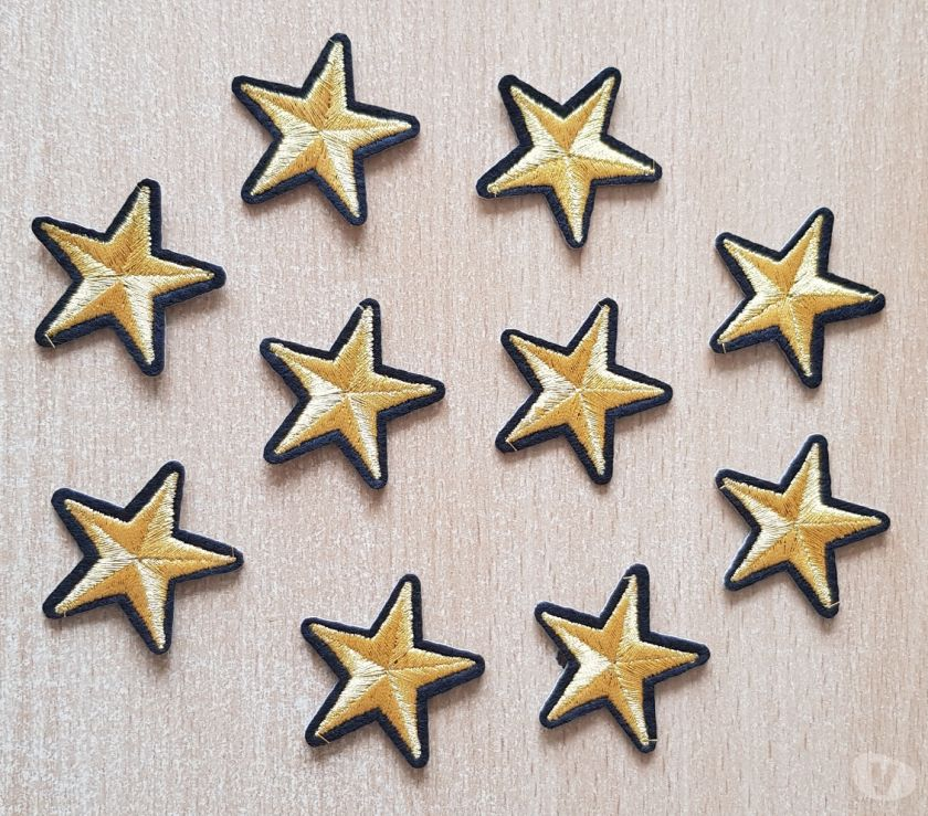 Collections Bruxelles Bruxelles - 1000 - Photos Vivastreet Ecusson 10 étoiles brodé or et noir 3,5x3,5 thermocollant