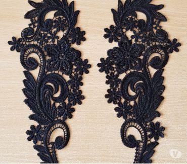 Photos Vivastreet 2 pièces de broderie noir 25x10 cm