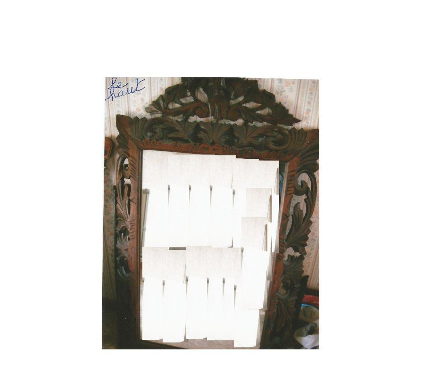 Décoration - art Tournai Tournai - 7500 - Photos Vivastreet miroir sculpté bois. hauteur 82 cm (avec garnitures : 1m28).