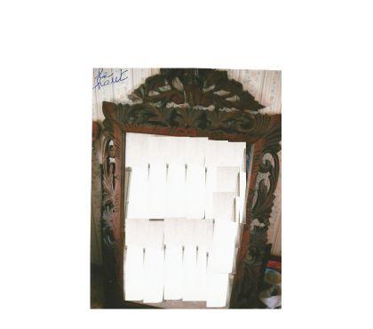 Photos Vivastreet miroir sculpté bois. hauteur 82 cm (avec garnitures : 1m28).