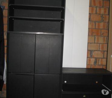 Photos Vivastreet grande armoire noir +petite avec plateau coulisant