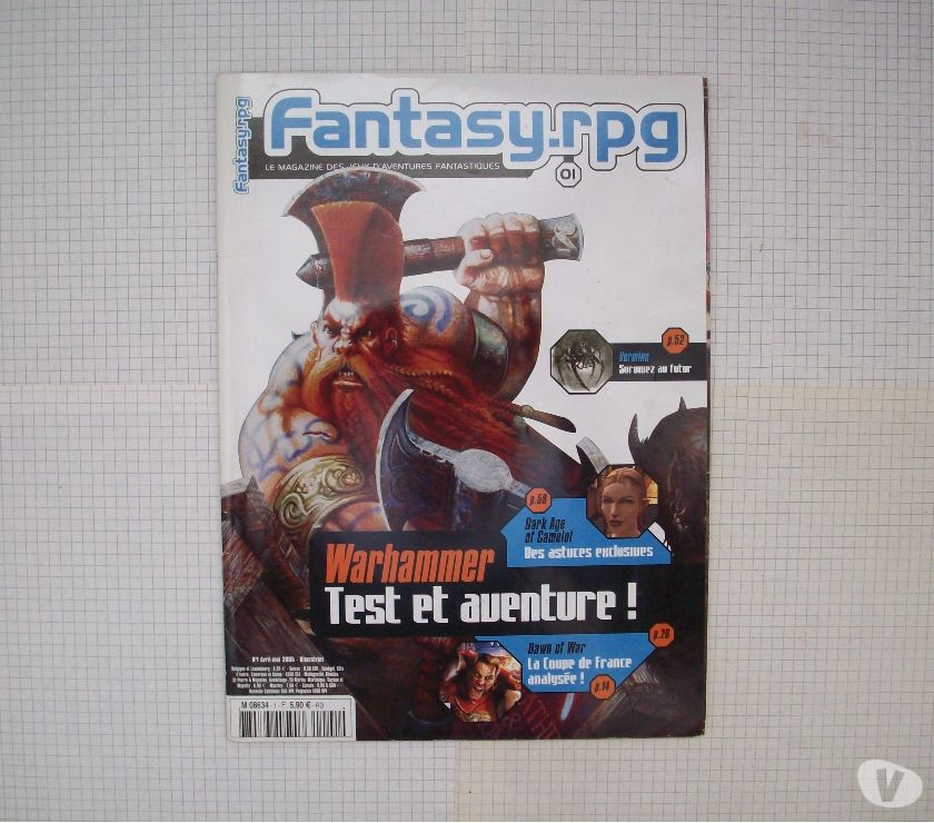 Photos Vivastreet Magazine de jdr Fantasy.rpg