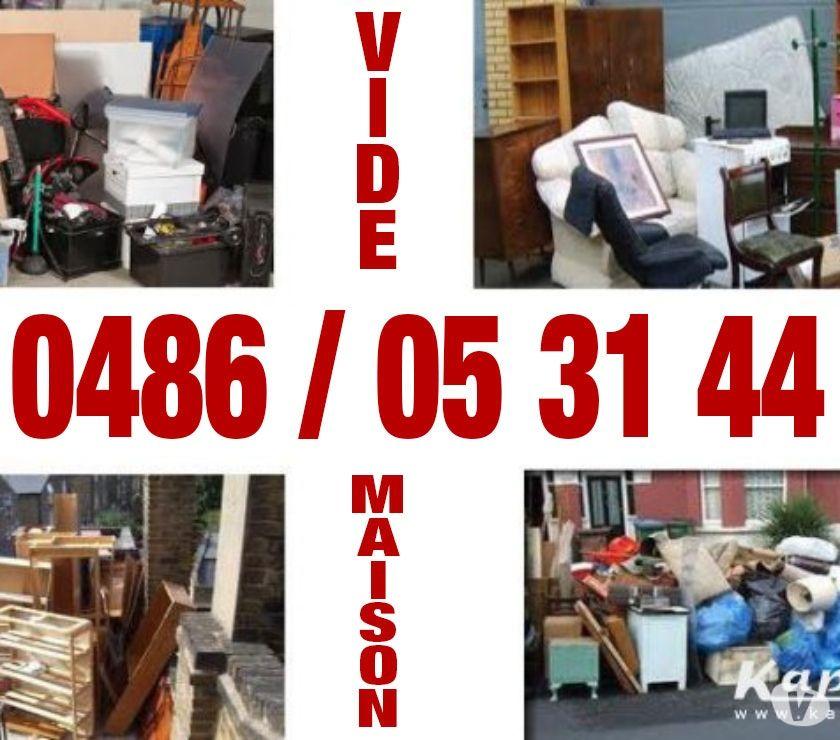 Déménageurs Bruxelles Bruxelles - 1000 - Photos Vivastreet 0484085522 Vide maison, bureau ,grenier,garage container