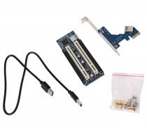 Photos Vivastreet PCI-E Express X1 Double Riser PCI Adaptateur Carte PCI
