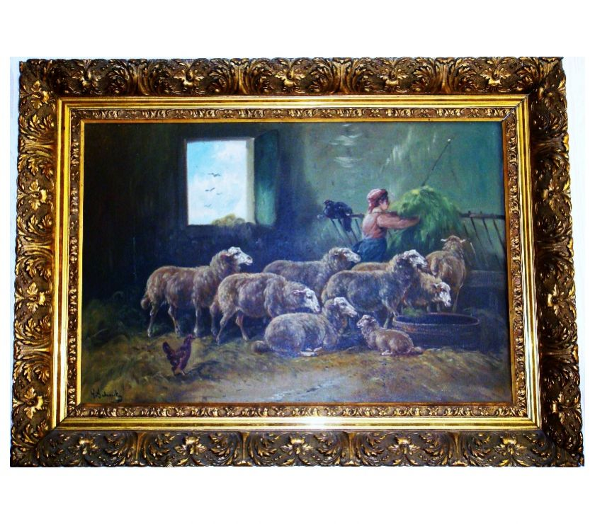 Photos Vivastreet Peinture signée de Paul Schouten (1860-1922), de 113 X 82 cm