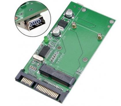 Photos Vivastreet mSATA to SATA + port USB (Universel mSATA)