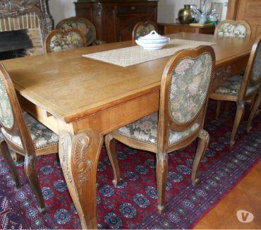 Photos Vivastreet table + 6 chaises capitonnées+ 2 faut. cabriolet