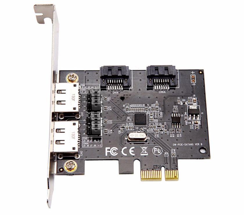 Photos Vivastreet 2x2 ports eSATA et SATA 3.0 PCI-E Express Carte Contrôler