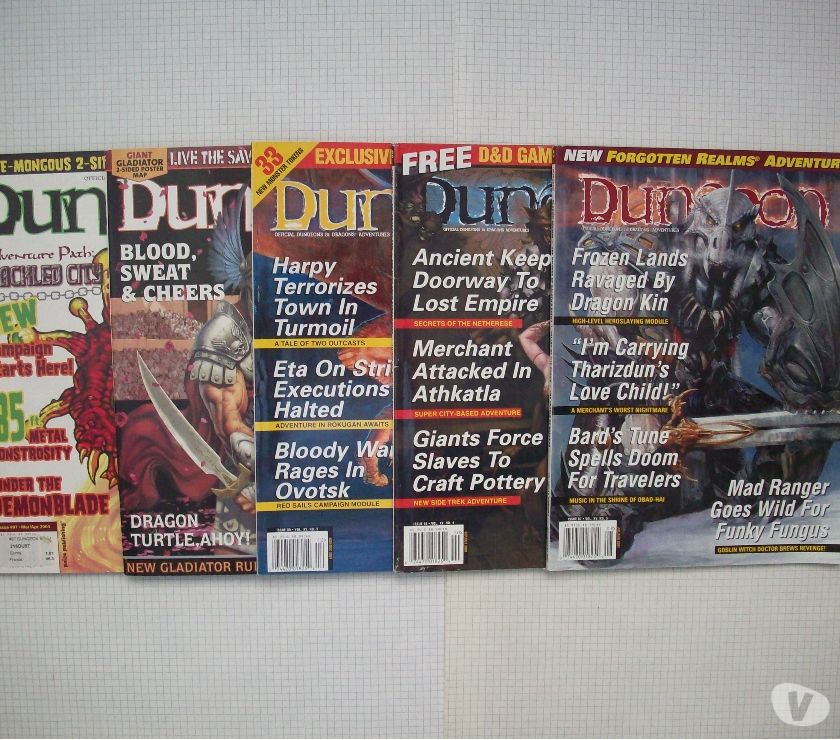 Photos Vivastreet Lot de magazines de jdr Dungeon en anglais