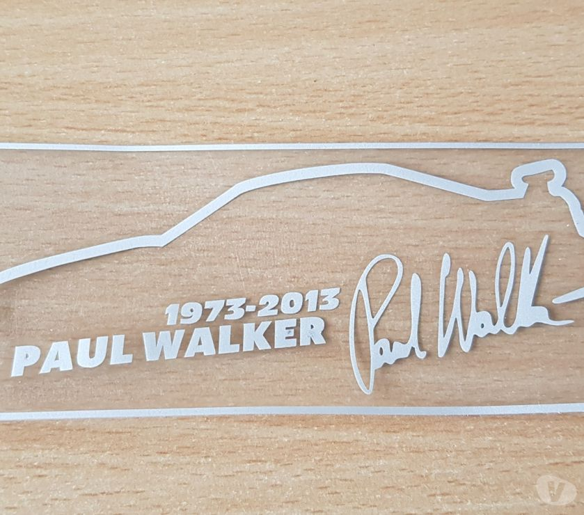 Photos Vivastreet Autocollant sticker hommage paul walker fast and furious