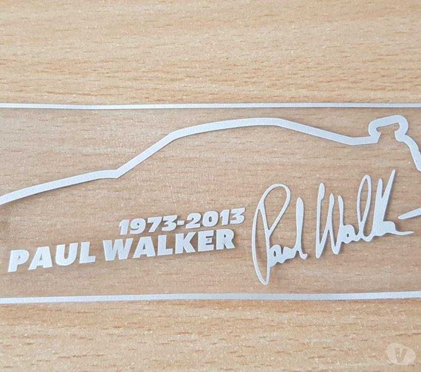 Pièces et services auto Bruxelles Bruxelles - 1000 - Photos Vivastreet Autocollant sticker hommage paul walker fast and furious