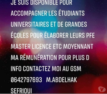 Photos Vivastreet PFE masters licences soutien scolaire coaching etc..