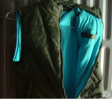 Photos Vivastreet veste sans manches 68 ans, vert olive int. : bleu turquoise