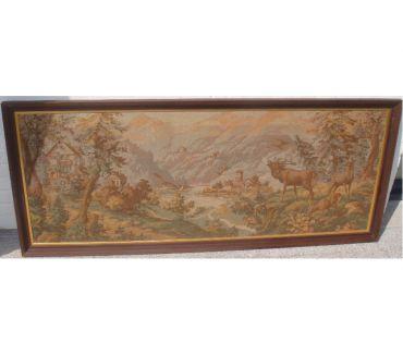 Photos Vivastreet Tapisserie murale ancienne encadrée (182 cm X 76 cm)