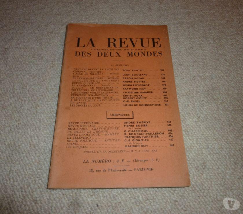 Livres occasion Val-de-Marne Le Kremlin Bicetre - 94270 - Photos Vivastreet La revue des deux mondes 1er juin 1965