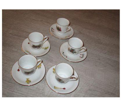 Photos Vivastreet Lot de 5 tasses à café avec leurs soucoupes