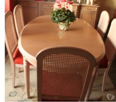 Photos Vivastreet Table ovale hêtre cérusé 186 x110cm 68 Personnes + rallonge