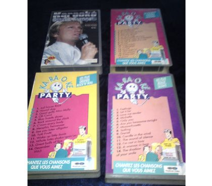 Photos Vivastreet Lot 4 cassettes VHS _ KARAOKE COLLECTOR