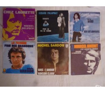 Photos Vivastreet Vinyles 45t Delpech-Palaprat-Lenorman-Sardou-Amont