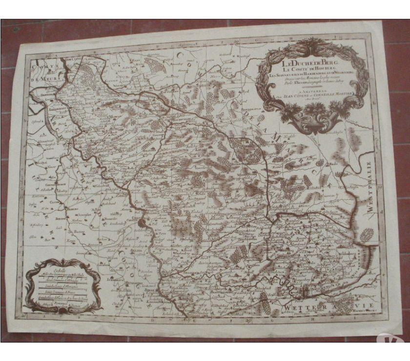 Photos Vivastreet Carte ancienne Le duché de Berg, le comté de Homberg, les se