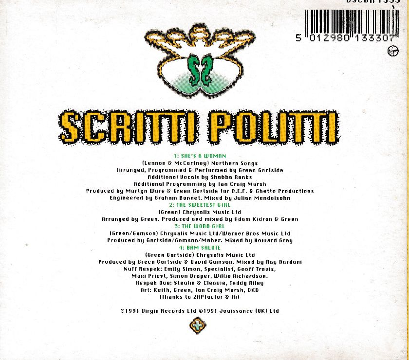 Photos Vivastreet CD Scritti Politti + Shabba Ranks - She's A Woman (Digipak)