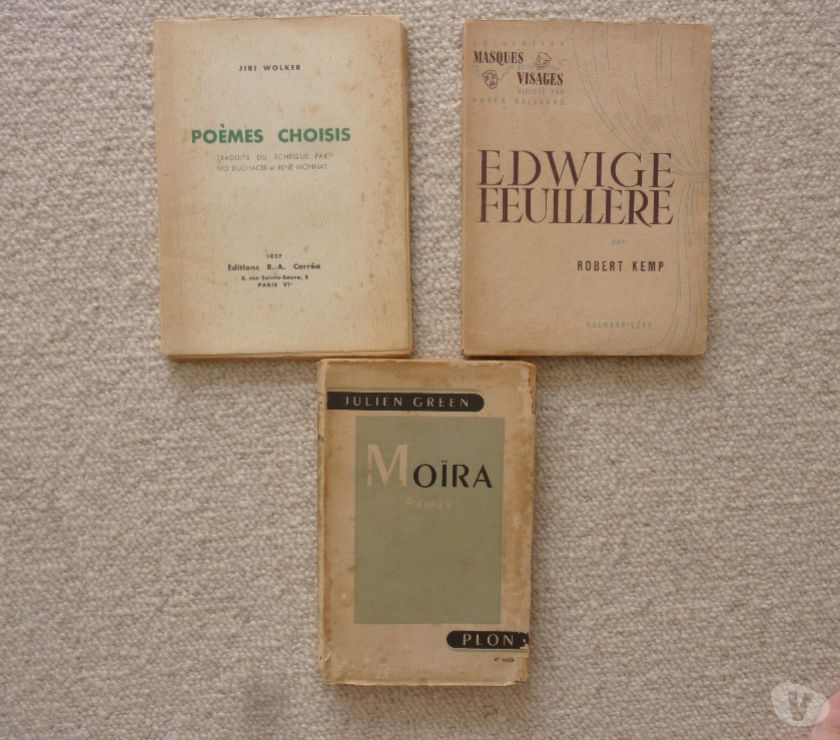 Photos Vivastreet 3 livres anciens collections diverses