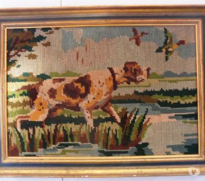 Photos Vivastreet Canevas chien de chasse L 37 cm X H 28 cm