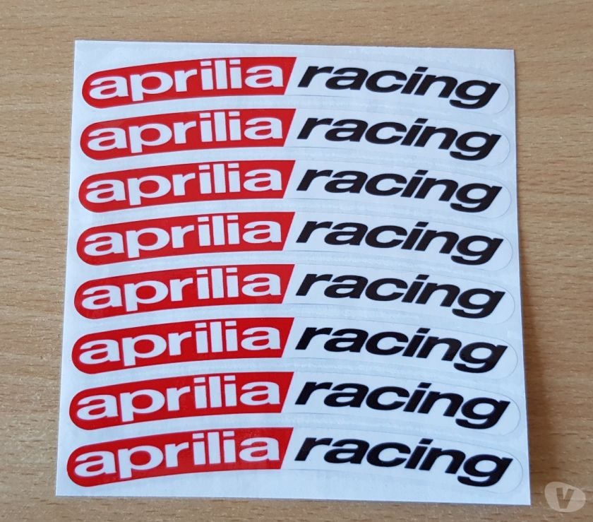 Photos Vivastreet autocollant sticker de jante x8 Aprilia racing 13x1 cm