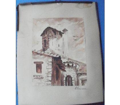 Photos Vivastreet Peinture signée F. CASTOR représentant CLAIRAC