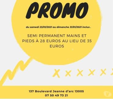 Photos Vivastreet PROMO: Pose semi permanent mains et pieds à 28e