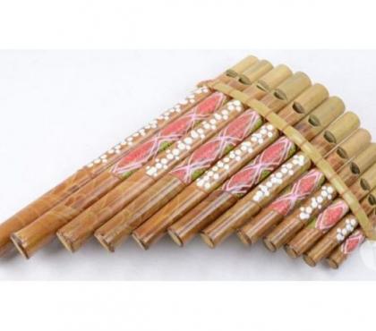 Photos Vivastreet Flute de Pan en bambou motif peint