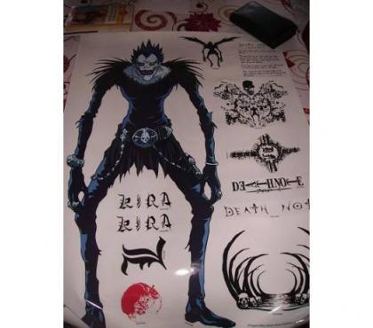 Photos Vivastreet Stickers murale death note japon manga anime dessin TV deco